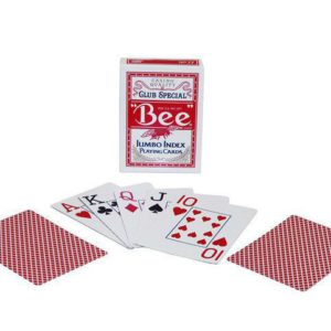 Cartes Bee Jumbo Rouges
