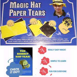 Papiers déchirés se transforment en chapeau