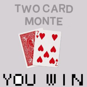 Two Card Monte – Bonneteau a 2 cartes en Bicycle