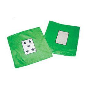 2 foulards l'un motif 5 de pique et l'autre carte blanche