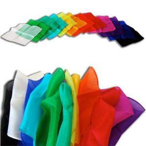 3 Foulards en Soie de couleurs