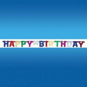 Bannière articulée HAPPY BIRTHDAY