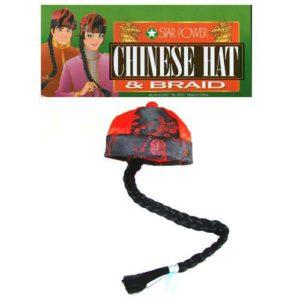 Bonnet Chinois avec Tresse FU-MANCHU