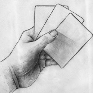 Bonneteau à 3 Cartes Blanches