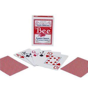 Cartes Bee Jumbo Rouges