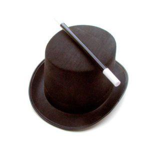 Chapeau et baguette du magicien junior – taille enfant