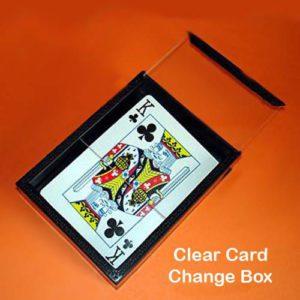 Clear Card Change Box