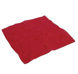 Foulard Rouge en soie 22 cm x 22 cm