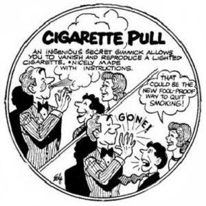 Tirette de cigarettes allumées